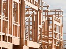 Bauholzarbeit Stockfoto