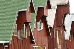 Bauholzfassaden Stockbilder