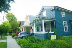 Bauholzhäuser in Michigan, Vereinigte Staaten Lizenzfreie Stockfotografie