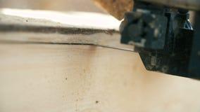 Bauholzindustrie - Förderer von meldet Front von Schneidemaschinen an stock footage