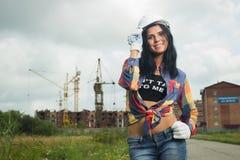 Bauingenieur an der Baustelle Lizenzfreie Stockfotos