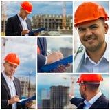Bauingenieur am Standort Stockfotos