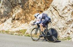 Bauke Mollema, procès individuel de temps - Tour de France 2016 photos libres de droits