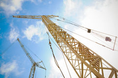 Baukontrollturmhahn Stockfoto