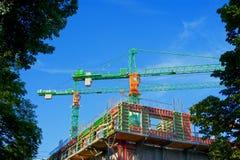 Baukräne Lizenzfreies Stockfoto