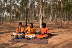 Baul Folk song performance Royalty Free Stock Photo