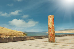 Baulk in the middle of path. Baulk  in the middle of wooden path Royalty Free Stock Photography