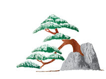 Baum auf dem Stein Lizenzfreie Stockfotografie