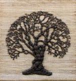 Baum auf einem Segeltuch Lizenzfreies Stockfoto
