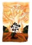Baum-Aura (2008) lizenzfreie abbildung