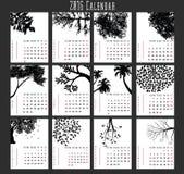 Baum Calendar-2016 Lizenzfreie Stockfotografie