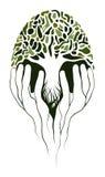 Baum in den Händen Stockbild