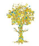 Baum in der Farbe stock abbildung
