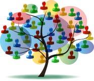 Baum der Leute Stockfotografie