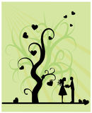Baum der Liebe lizenzfreie abbildung