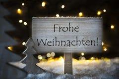 Baum der weißen Weihnacht, Frohe Weihnachten bedeutet frohe Weihnachten Lizenzfreie Stockfotografie