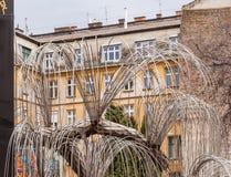Baum des Lebenmonuments zu den Opfern des Holocaust war im Jahre 1990 in Budapest, Ungarn geöffnet Lizenzfreie Stockfotos