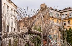 Baum des Lebenmonuments zu den Opfern des Holocaust war im Jahre 1990 in Budapest, Ungarn geöffnet Stockbild