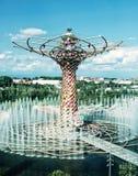 Baum des Lebens an Ausstellung Ausstellung Mailand 2015, blauer Filter Lizenzfreies Stockfoto