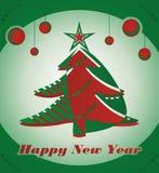 Baum des neuen Jahres lizenzfreie abbildung