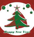 Baum des neuen Jahres stock abbildung