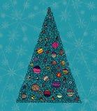 Baum des neuen Jahres vektor abbildung