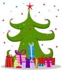 Baum des neuen Jahres Stockfoto