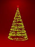 Baum des neuen Jahres gebildet mit Leuchten Lizenzfreies Stockbild