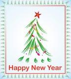 Baum des neuen Jahres mit Stern vektor abbildung