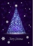 Baum des neuen Jahres von den Funken ein Weihnachtshintergrund Lizenzfreie Stockbilder