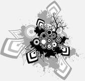 Baum - ein geometrischer abstrakter Hintergrund Stockfotografie