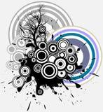 Baum - ein geometrischer abstrakter Hintergrund Lizenzfreies Stockbild
