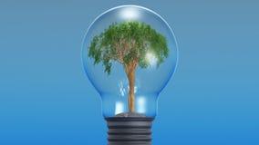Baum in einer elektrischen Lampe vektor abbildung