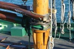 Baum eines alten Segelboots Stockfotografie