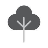 Baum-flache Vektor-Ikone Stockbilder