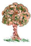 Baum gebildet von den hölzernen Schnitzeln Lizenzfreie Stockfotos