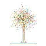 Baum gebildet von farbigem abstraktem Netz stock abbildung