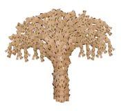 Baum gemacht von den Kästen Stockfoto