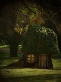 Baum-Haus lizenzfreie abbildung