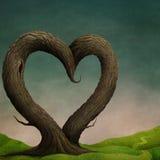 Baum-Herzhintergrund lizenzfreie abbildung