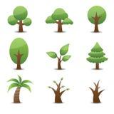 Baum-Ikone Lizenzfreie Stockfotografie