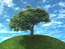 Baum ist saftige grüne Farbe Stockfoto