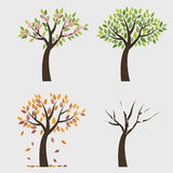 Baum 4 Jahreszeiten stock abbildung