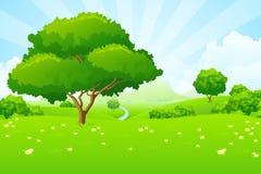 Baum-Landschaft lizenzfreie abbildung