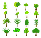 Baum Logo Elements stock abbildung