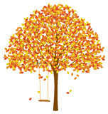 Baum mit Autumn Leaves Stockfoto