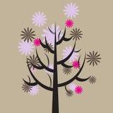 Baum mit Blumen Stockfotografie