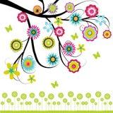 Baum mit Blumen Lizenzfreie Stockbilder