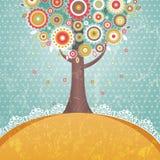 Baum mit Blumen Lizenzfreie Stockfotos