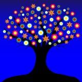 Baum mit Blumen Lizenzfreie Stockfotografie